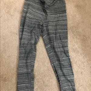 Garage grey striped leggings